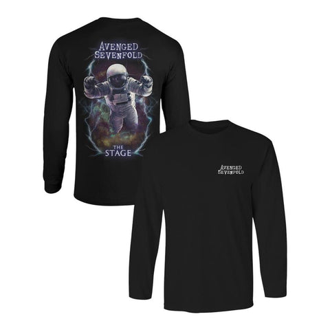 Avenged Sevenfold Logo Spaceman Men's Longsleeved T-Shirt