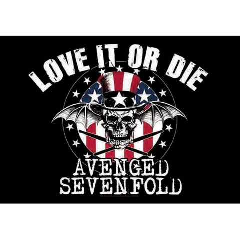 Avenged Sevenfold Love it or Die Fabric Poster