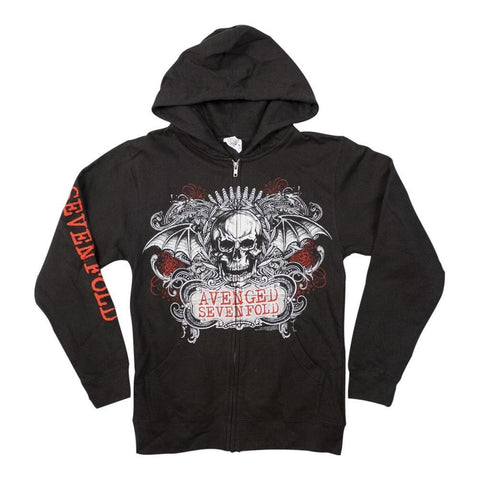 Avenged Sevenfold Ornate Skull Men's Zip Hoodie