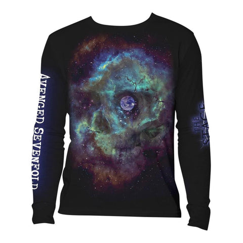 Avenged Sevenfold Space Face Logo Men's Longsleeved T-Shirt