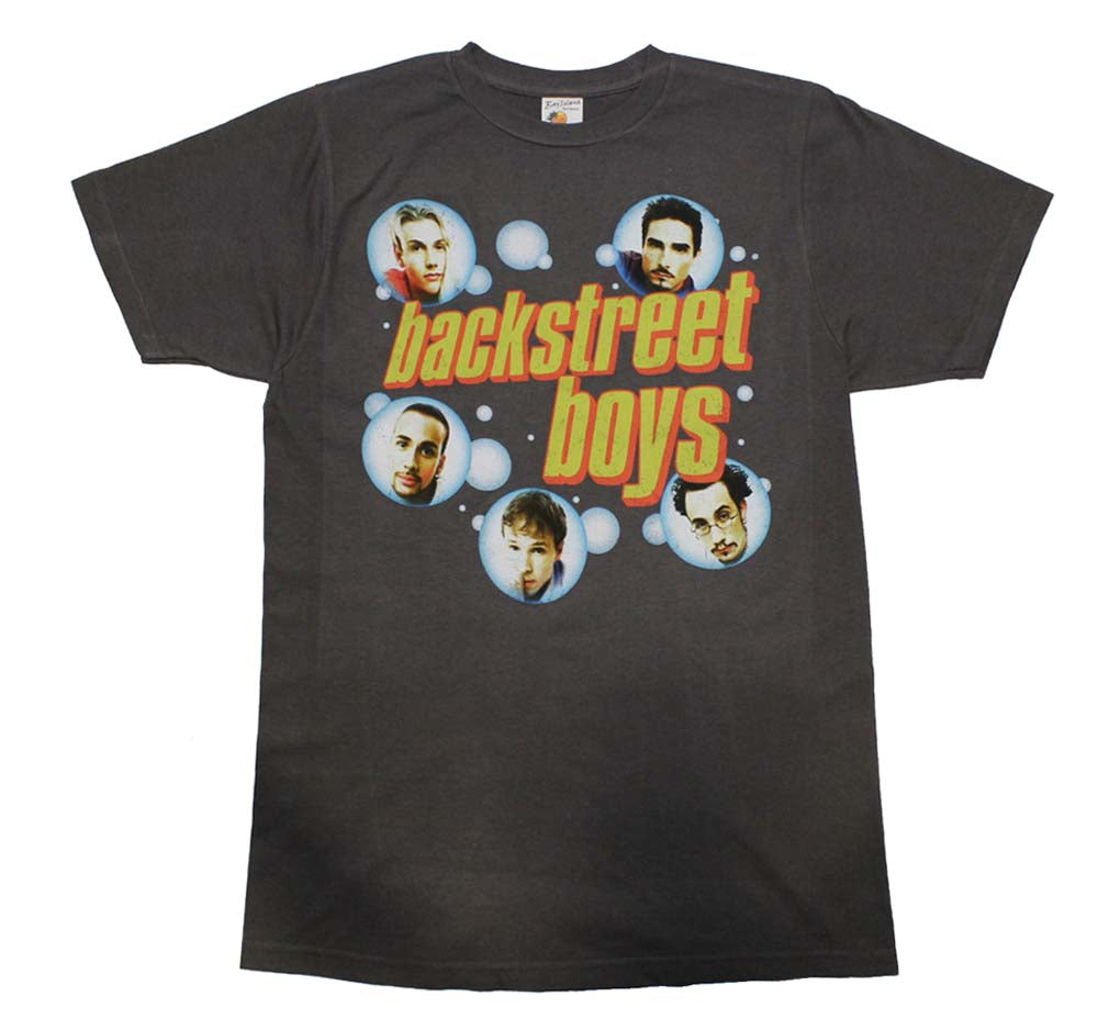 backstreet boys bubble charcoal t shirt rockmerch. Black Bedroom Furniture Sets. Home Design Ideas