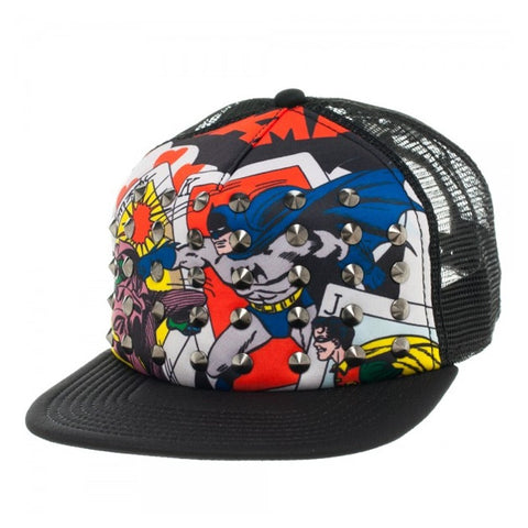 Batman Sublimated Print Trucker Cap With Spikes