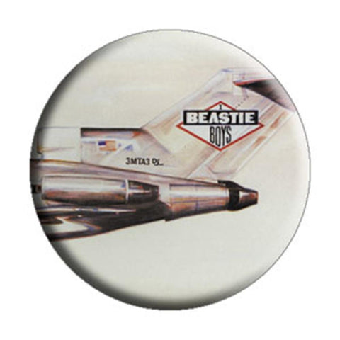 Beastie Boys License to Ill Tail Number Button