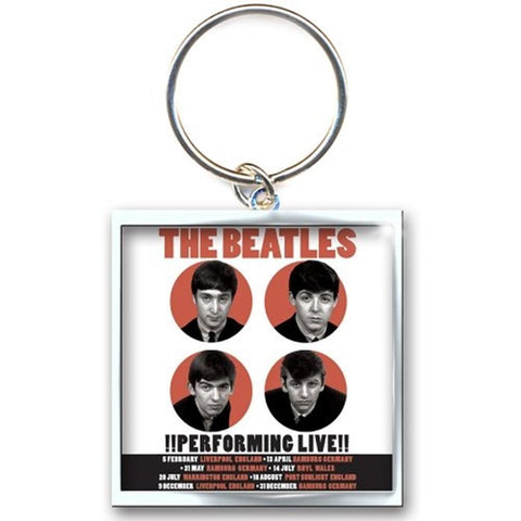 Beatles 1962 Performing Live Keychain