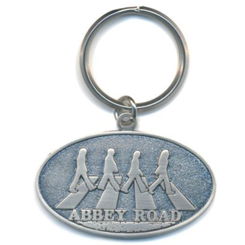 Beatles Abbey Road Crossing Oval Keychain