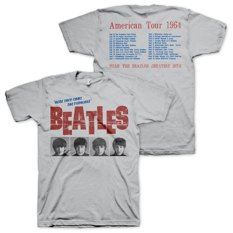 Beatles American Tour '64 Cream Men's T-Shirt