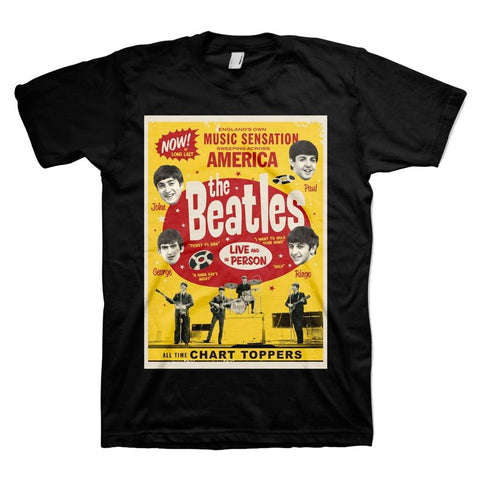 Beatles Chart Toppers Poster Men's T-Shirt