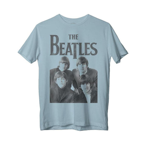 Beatles Distressed Band Photo Men's Blue T-Shirt