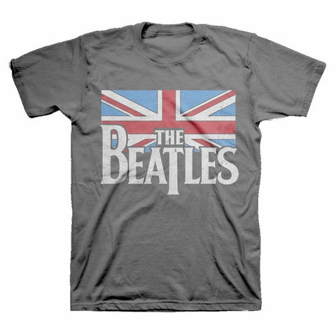 Beatles Distressed British Flag Men's T-Shirt