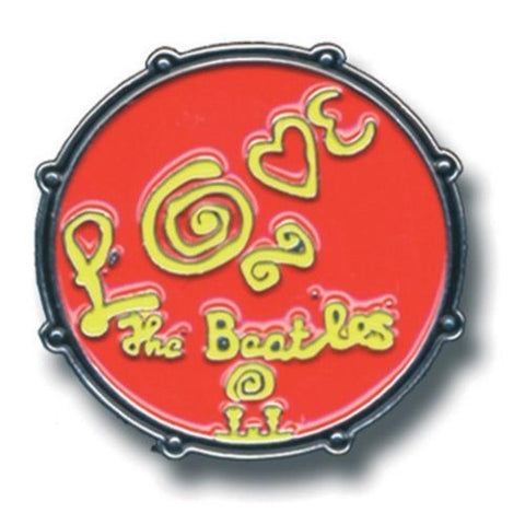 Beatles Drum Love Logo Button