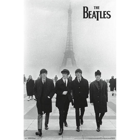 Beatles Eiffel Tower Wall Poster