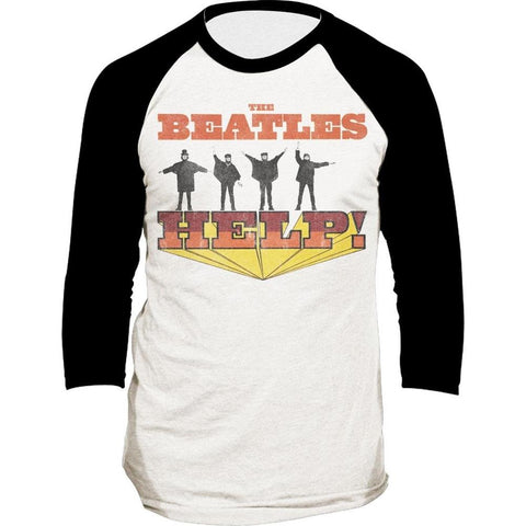 Beatles Help Men's Long Sleeve Raglan T-Shirt