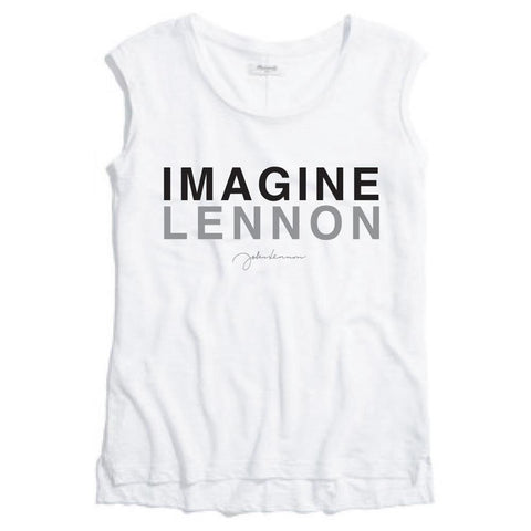 Beatles John Lennon Imagine Lennon Women's Muscle T-Shirt