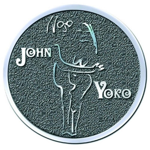 Beatles John Lennon John & Yoko Embrace Button