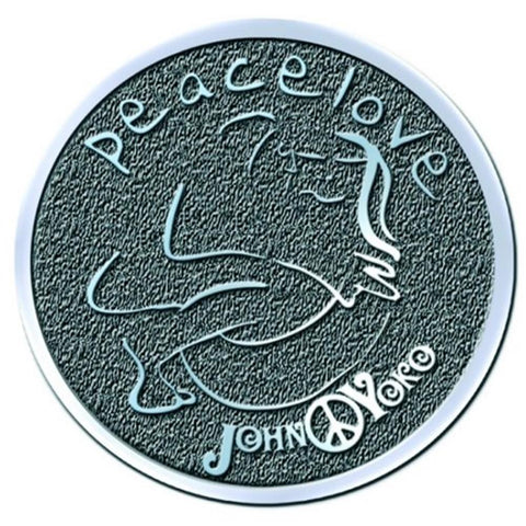 Beatles John Lennon Peace & Love Button