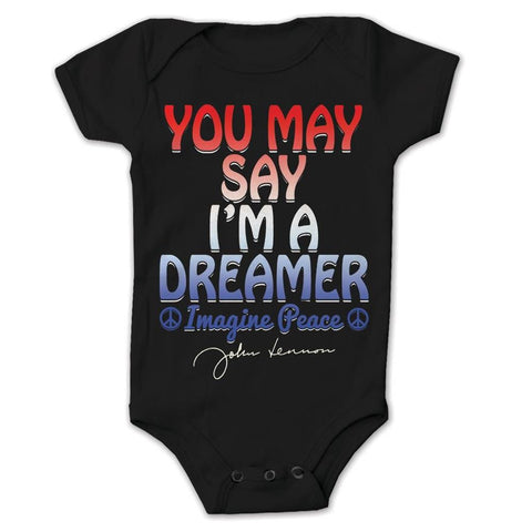 Beatles John Lennon You May Say I'm A Dreamer Infant One-Piece Bodysuit