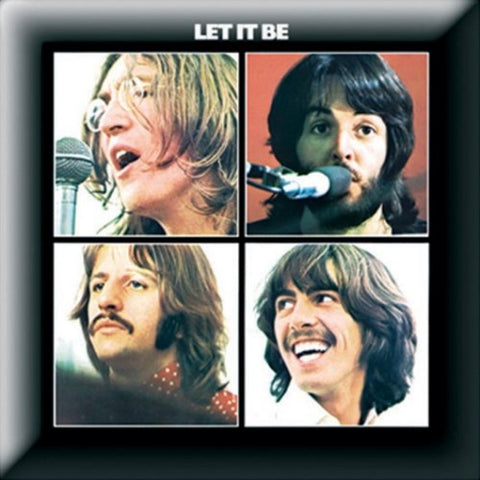 Beatles Let It Be Album Button