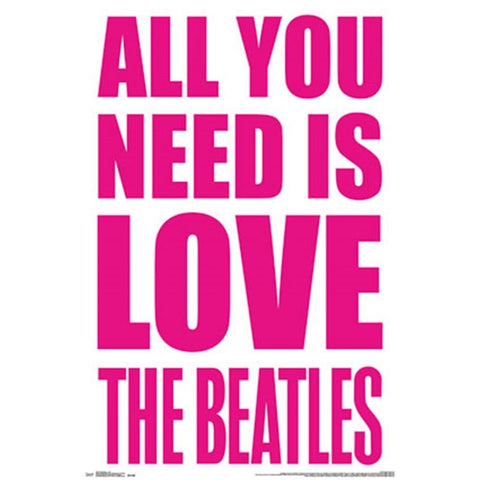 Beatles Love Wall Poster