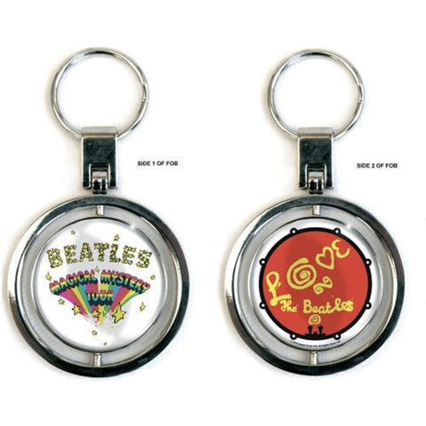 Beatles Magical Mystery Tour & Love Drum Keychain