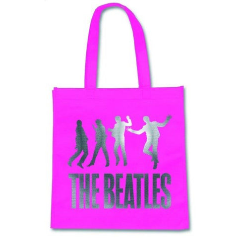 Beatles Pink Jump Large Eco Friendly Shopper Tote Bag