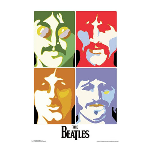 Beatles Sea of Science Multi Color Faces Poster