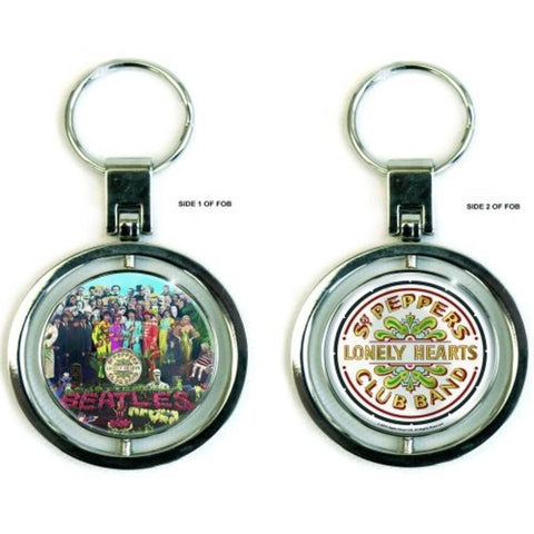 Beatles Sgt Pepper Front And Back Metal Keychain