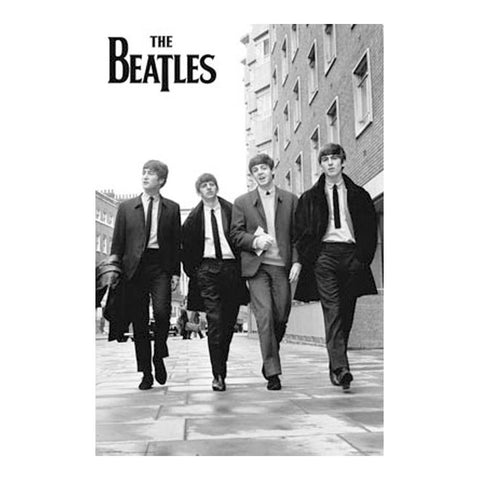 Beatles Down The Street Poster