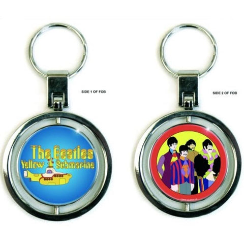 Beatles Yellow Submarine Front And Back Metal Keychain