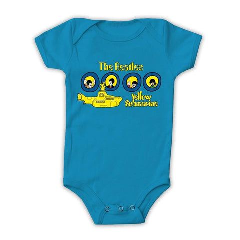 Beatles Yellow Submarine Portholes One-Piece Bodysuit