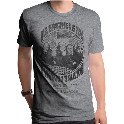 Big Brother And The Holding Company Bootleg Dark Heather Grey S/S Men's Crew T-Shirt