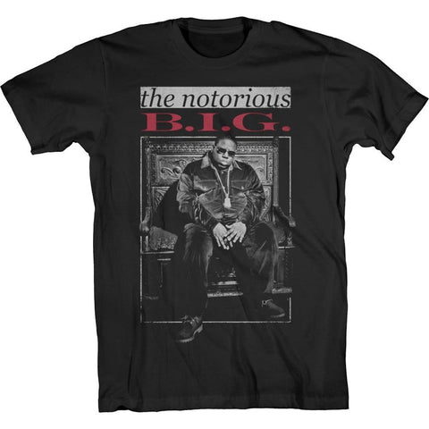 Biggie The Notorious B.I.G. Throne Men's Black T-Shirt