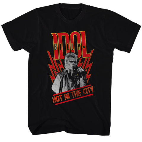 Billy Idol Special Order Hot In The City Adult S/S T-Shirt
