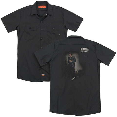 Billy Joel Special Order 52Nd Street (Back Print) Men's 35% Cotton 65% Poly Short-Sleeve Work Shirt