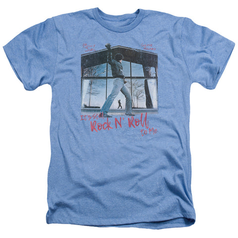 Billy Joel Special Order Glass Houses Men's 30/1 Heather 60% Cotton 40% Poly Short-Sleeve T-Shirt