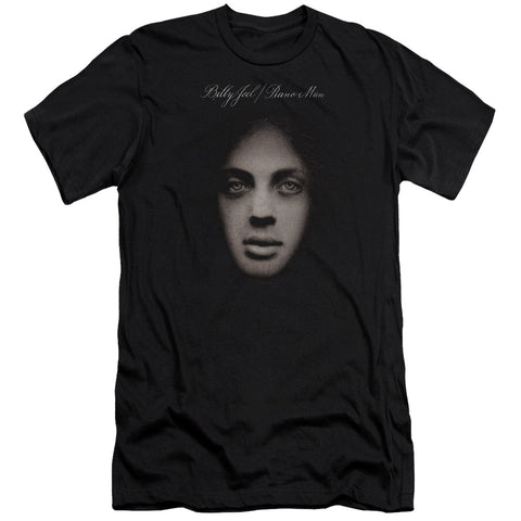 Billy Joel Special Order Piano Man Cover Men's Premium Ultra-Soft 30/1 100% Cotton Slim Fit T-Shirt - Eco-Friendly - Made In The USA