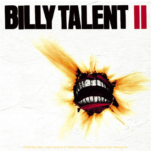 Billy Talent Album Ii Sticker
