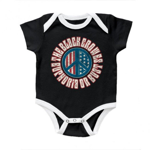 Black Crowes Peace Infant One-Piece Bodysuit