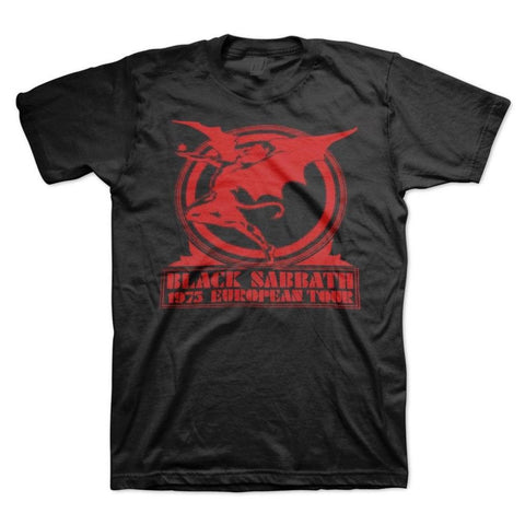 Black Sabbath Europe 75 Men's T-Shirt