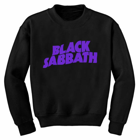 Black Sabbath Logo Men's Crew Neck Sweatshirt