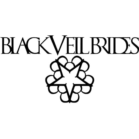 Veil Brides Logo Rub-On Sticker - Black