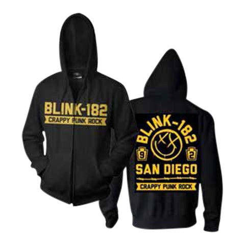 Blink-182 Crappy Punk Rock Men's Zip Hoodie