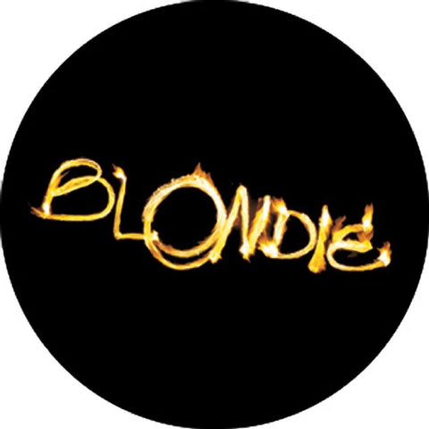 Blondie Logo Black & White Button