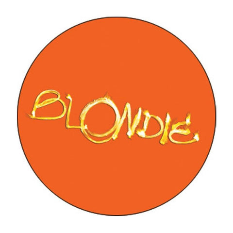 Blondie Orange Fire Logo Button