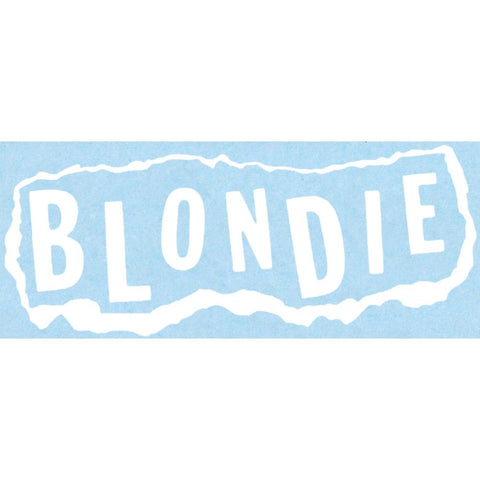 Blondie Torn Paper Logo Rub-On Sticker - White