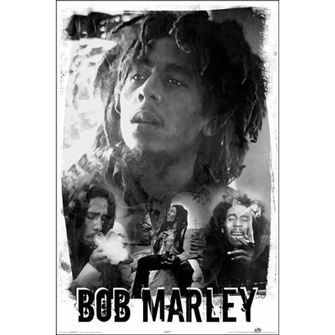 Bob Marley Black And White Wall Poster