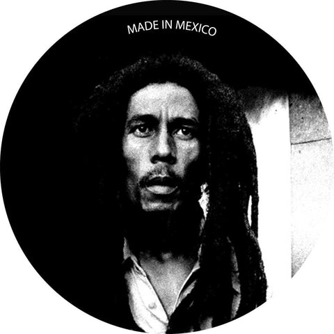 Bob Marley Black & White Button