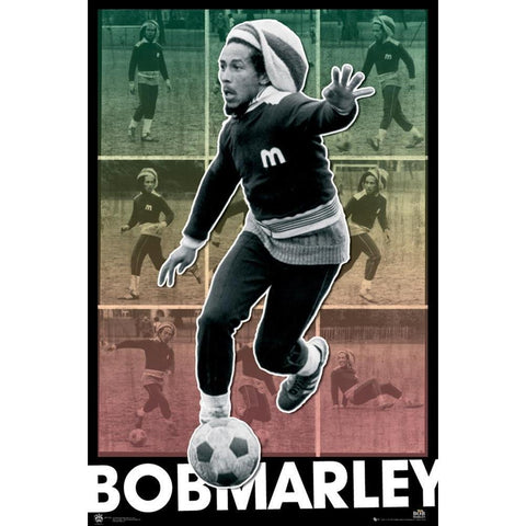 Bob Marley Football Poster