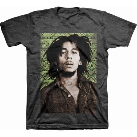 Bob Marley Green Aztec Men's T-Shirt