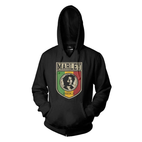 Bob Marley Kingston Sheild Men's Pullover Hoodie