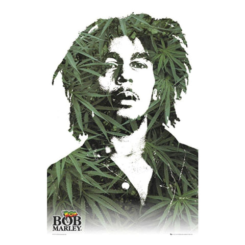 Bob Marley Leaves Wall Poster